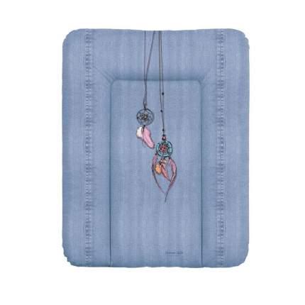 Матрас пеленальный Ceba Baby Denim Style Dream Catcher blue на комод, 70x50 см