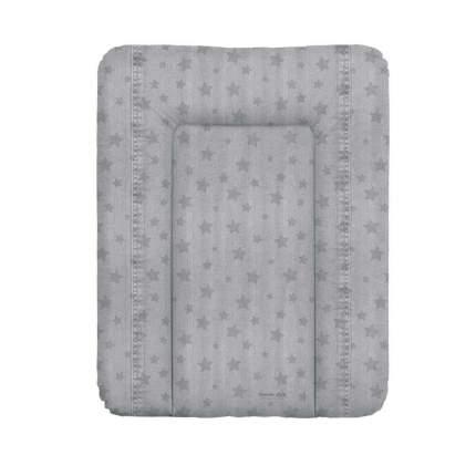 Матрас пеленальный Ceba Baby Denim Style Stars grey на комод, 70x50 см