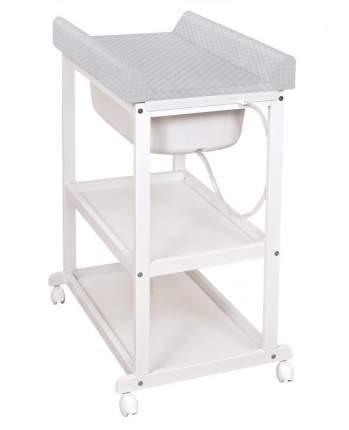 Пеленальный стол Ceba Baby Laura white с матрасиком Zebra grey