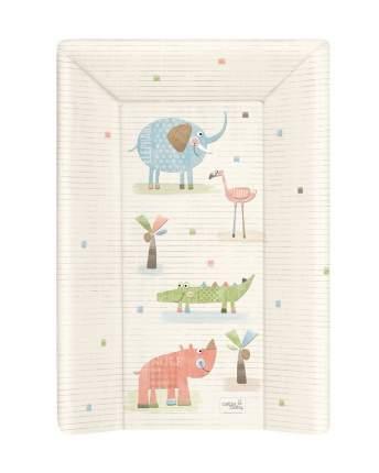 Матрас пеленальный Ceba Baby Elephant Gang ecru мягкий с изголовьем, 70 см