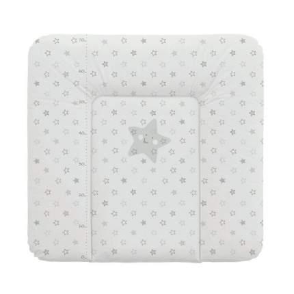 Матрас пеленальный Ceba Baby Stars grey на комод, 70x75 см