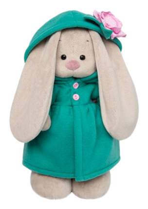 Мягкая игрушка «Зайка Ми» в изумрудном пальто с розовым цветочком, 25 см Зайка Ми