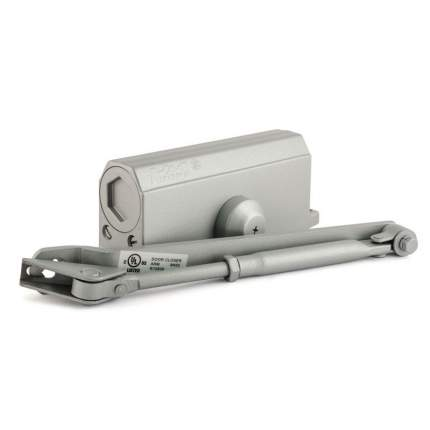 Доводчик дверной НОРА-М 3S-F бол. морозостойкий с фиксацией (от 50 до 80 кг) - Серый
