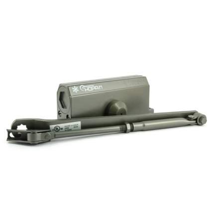 Доводчик дверной НОРА-М 3S-F бол. морозостойкий с фиксацией (от 50 до 80 кг) - Графит