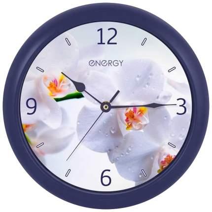 """Часы настенные Energy EC-110 """"Орхидея"""", круглые, 25х3.8см"""