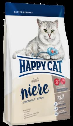 Сухой корм для кошек Happy Cat Schonkost Niere Renal, домашняя птица, 1.4кг