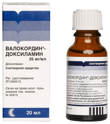 Валокордин-Доксиламин капли для приема внутрь 20 мл