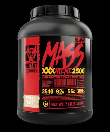 Гейнер Mutant Mass XXXtreme 2500, 3200 г, vanilla ice-cream