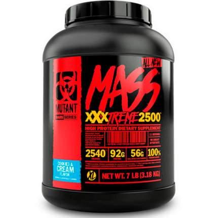 Гейнер Mutant Mass XXXtreme 2500, 3200 г, cookies & cream