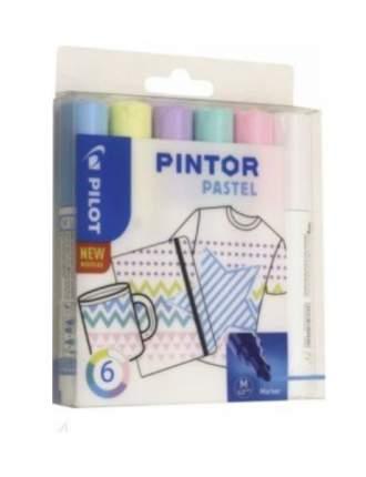 Набор маркеров PILOT PINTOR Pastel 4.5мм 6 цветов