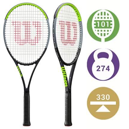 Ракетка для большого тенниса Wilson Blade 101L Version 7.0 115C черная/зеленая