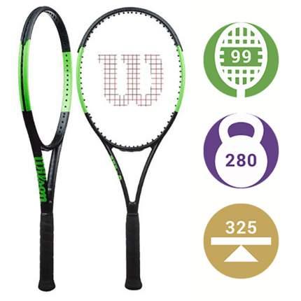 Ракетка для большого тенниса Wilson Blade Team 5119 черная/зеленая