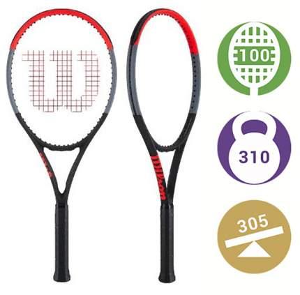 Ракетка для большого тенниса Wilson Clash 100 Tour D92D черная/красная