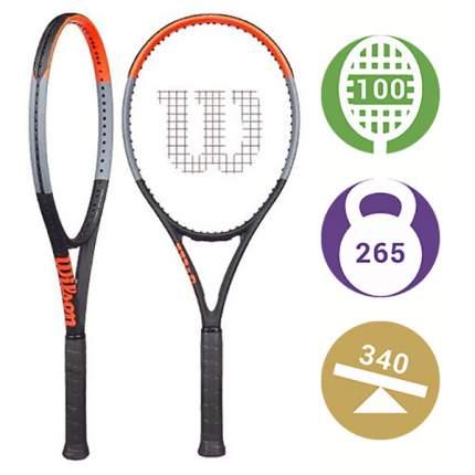 Ракетка для большого тенниса Wilson Clash 100UL 655A синяя/красная