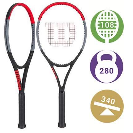 Ракетка для большого тенниса Wilson Clash 108 синяя/красная