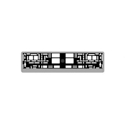 """Рамка под номерной знак """"карбон (светлый)"""" AVS RN-05"""