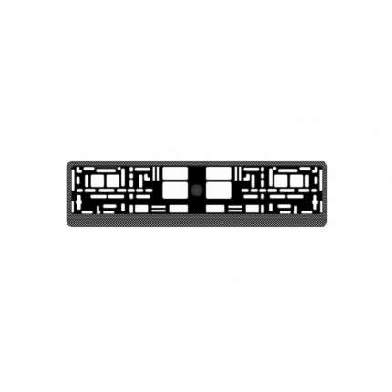 """Рамка под номерной знак """"карбон (тёмный)"""" AVS RN-04"""