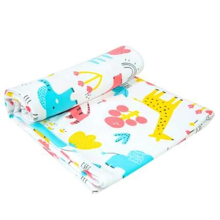 Пеленка-плед Amarobaby Soft Hugs Зоопарк двухслойная трикотажная