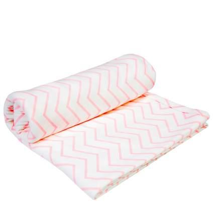 Пеленка трикотажная Amarobaby Soft Hugs Зигзаг розовый