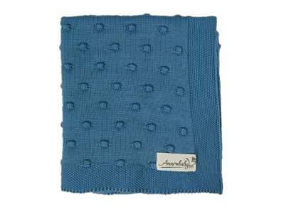 Плед детский вязаный Amarobaby Pure Love Шишечки серо-синий, 105х75
