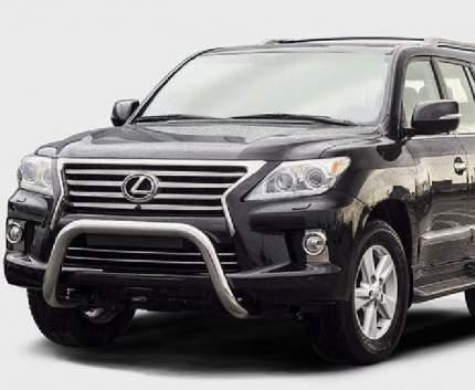 """Решетка передняя мини d 76 низкая с 2-мя перемычками d 60 """"Lexus LX 570"""", LX57.56.0625"""