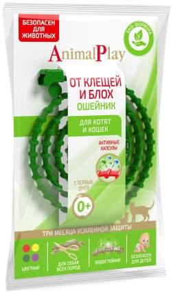 Ошейник для кошек против паразитов Animal Play зеленый, 38 см