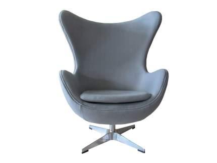 Кресло Bradex Home «EGG CHAIR» светло-серый матовый с эффектом состаренная кожа / FR 0254