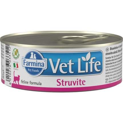 Консервы для кошек Farmina Vet Life Struvite, при МКБ со струвитами, с курицей, 85г
