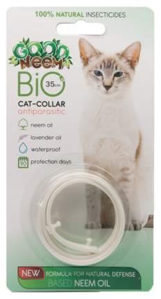 Ошейник для кошек против паразитов GOOD NEEM PLUS с маслом дерева Ним, белый, 35 см