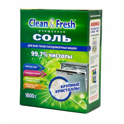 Соль гранулированная Clean&Fresh для посудомоечных машин 1800 г