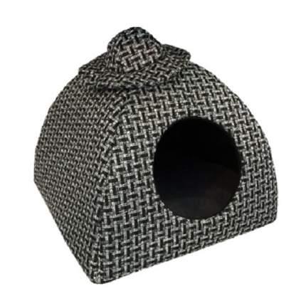 Домик для кошек и собак PerseiLine Вигвам со Шляпой Лофт, серый, 40x40x39см