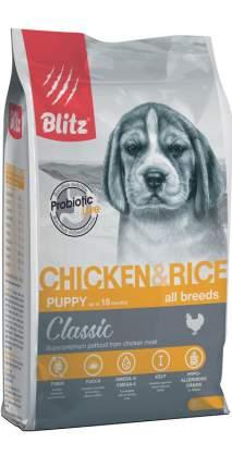 Сухой корм для щенков BLITZ Puppy Classic, с курицей и рисом, 2кг