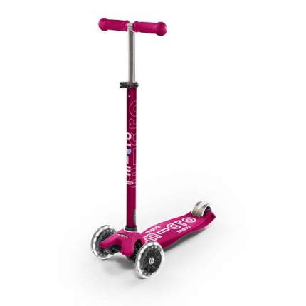 Самокат детский трехколесный Micro Maxi Deluxe LED Pink
