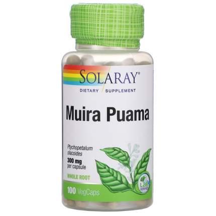 Муира пуама Solaray Muira Puama 300 мг капсулы 100 шт.