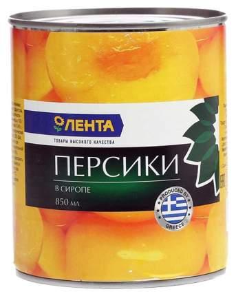 Персики Лента половинки в сиропе 850 мл