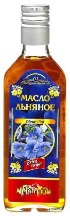 Масло пищевое нерафинированное льняное Алтай 250 мл