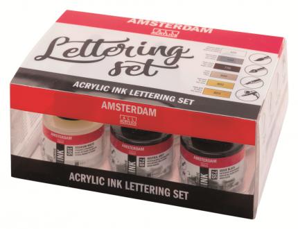 Акриловые чернила для леттеринга Royal Talens Amsterdam 6 цветов