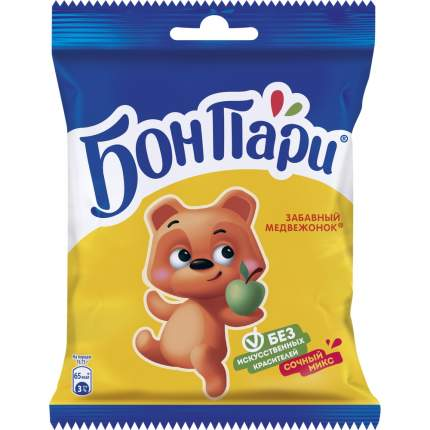 Мармелад жевательный Бон Пари забавный медвежонок со вкусом фруктов 75 г