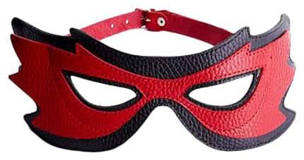 Красно-черная маска на глаза с разрезами Sitabella