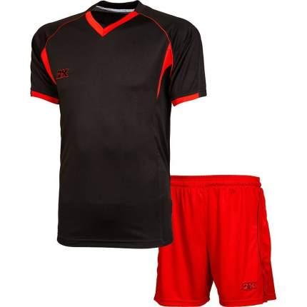 Форма футбольная 2K Agio Pro Line, black/red, XXL