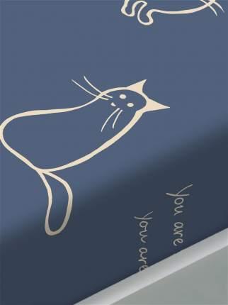 Простынь Сказка -Котики- 150х215 см 1,5-спальная