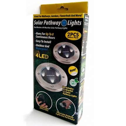 Светильники (2 шт.) на солнечных батареях Solar Pathway Lights 4 LED