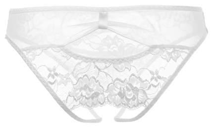 Эротические трусики со вставкой стрейч-сетки на поясе, белый, L-XL, Erolanta
