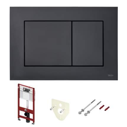 Комплект ТЕСЕ для подвесного унитаза k400407: модуль, панель TECEnow чёрная матовая