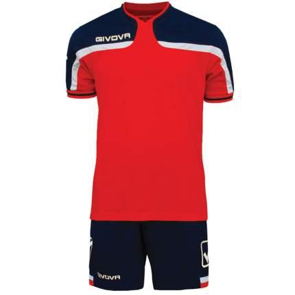Комплект футбольной формы Givova Kit America, красный, XXS INT