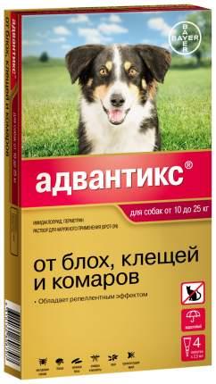 Капли для собак против паразитов Bayer Адвантикс, 10-25 кг, 4 пипетки, 2,5 мл