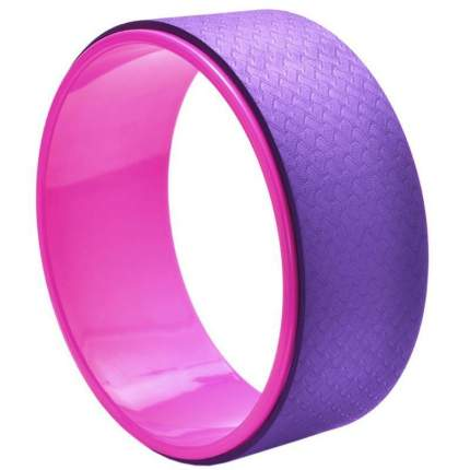 Колесо для йоги Yamy YAM5, фиолетовый/розовый