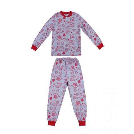 Пижама детская Bonito kids, цв. серый р.128