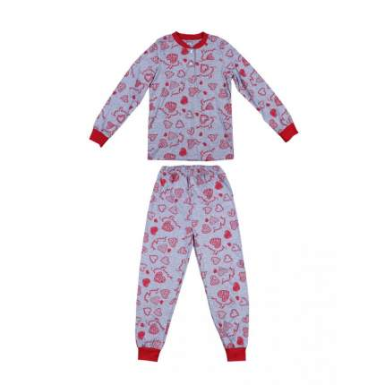 Пижама для девочек Bonito kids 4064-01 цв. меланжевый р.140