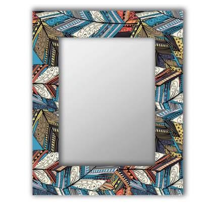 Зеркало настенное Дом Корлеоне Синие перья 04-0106-75х110 75х110 см, уф печать